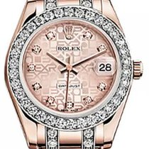 Rolex Pearlmaster 34 81285 Pink Jubilee Diamond Markers &...