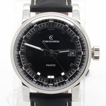 Chronoswiss Pacific Ch2883 Black Automatic Steel Mens Watch...