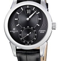 Perrelet A1037/7 Classic Jump Hour in Steel - on Black...