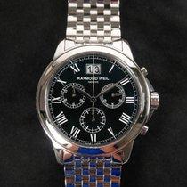 Raymond Weil Tradition Chronograph Schwarz Stahlband