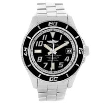 Breitling Superocean 42 Abyss Black Dial Stainless Steel Watch...