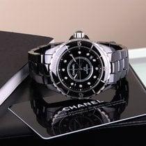 Chanel J12 Automatic Black Ceramic, Diamond Set Dial – H1626
