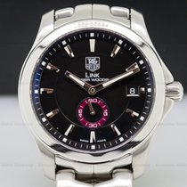 TAG Heuer WT5112 Link Tiger Woods Automatic Men Black Dial SS...