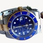 Rolex Submariner 116613LB  Blue Ceramic Gold Steel Mens Watch