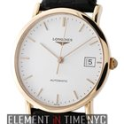 Longines Presence 18k Rose Gold White Index Dial 35mm 2013...