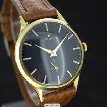 Zenith Oversize Handaufzug Black Dial 18kt Gold Anno 1965