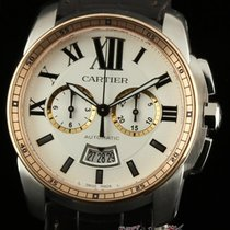Cartier New Calibre Chronograph W7100043 Steel Pink Gold...