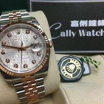 Rolex Cally - 116231 J 36mm Datejust RG & Steel Silver J...
