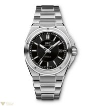 IWC Ingenieur Black Dial Stainless Steel Automatic Men`s Watch