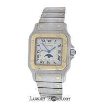 Cartier Ladies Unisex Santos Galbee 119901 Moon Phase Quartz 18K