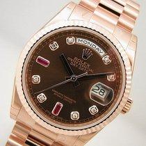 Rolex Day Date President 118235 Everose Gold Chocolate Diamond...