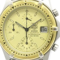 TAG Heuer 2000 Professional Chronograph Gold Plated Steel...