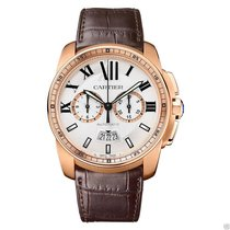Cartier Calibre de Cartier Chronograph W7100044 Rose Gold NEW...