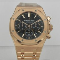 Audemars Piguet ROYAL OAK CHRONO 41MM ALL ROSE GOLD BLACK DIAL