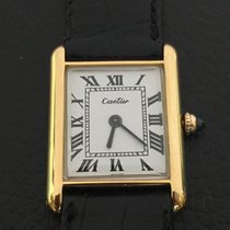 Cartier Tank lady's 18k Yellow gold mecanique