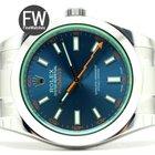 Rolex Milgauss Green Sapphire Blue Dial
