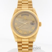 Rolex Day-Date 18K Yellow Gold 36MM Automatic Mens Watch 118238