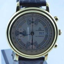 Dugena Herren Uhr Automatik Chrono 18k 750 Gold 39mm 75 Jahre...
