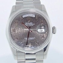 Rolex PRESIDENT DAY/DATE PLATINUM 118206 - 2 YEAR FELDMAR...