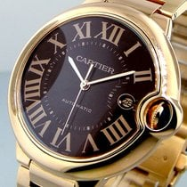 Cartier Ballon Bleu W6920036 Brown Chocolate 42 Mm 18k Rose...