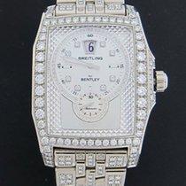 Breitling 18k White Gold Bentley Flying B Full Diamond