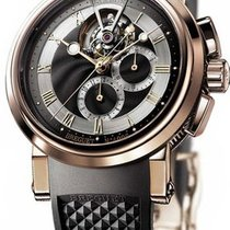 Breguet Rose Gold Marine II Tourbillon Chronograph 5837br