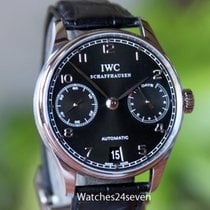 IWC Portuguese 7 Day Automatic Black Dial