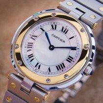 Cartier Santos Men Unisex 32mm 18k Gold And Ss Swiss Made...
