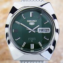 Seiko 5 Mens Day Date Automatic 6319-7000 With Green Dial...