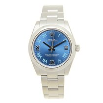 Rolex Oyster Perpetual Stainless Steel Blue Automatic 177200BLRN