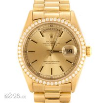 Rolex Day-Date 18038 Golden Sunray Dial Aftermarket Lünette...