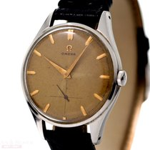 Omega Vintage Jumbo Gentleman Watch Stainless Steel Honey Comb...