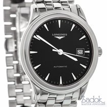 Longines Flagship Automatic 38.5mm Watch Black Dial Date Ref...