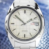Seiko 5 Automatic Vintage 7s26 With See Through Back S Steel...