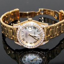 Rolex Pearlmaster 34mm 81158 MOP  Roman Diamond Set Yellow Gold