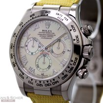 Rolex Daytona Cosmograph BEACH Ref-16519 18k White Gold Mother...