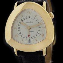 DeLaneau Yellow  Gold Starmaster Dual Time Watch