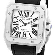 "Cartier ""Santos 100"" XL Strapwatch."