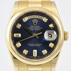 Rolex Day Date 36mm Blue Diamond Dial NEW CONDITION / FULL SET