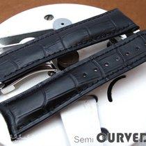 Strapcode Black CrocoCalf Semi-Curved Watch Strap, BK st