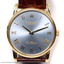 Rolex Cellini 5116 Classic Slate Roman 18k Yellow Gold 32mm...