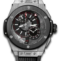 Hublot Big Bang 45 мм Alarm GMT Titanium Men's Watch
