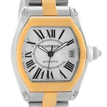 Cartier Roadster 18k Yellow Gold Stainless Steel Mens Watch...