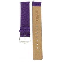 Hirsch Aqualino Purple Strap 18mm
