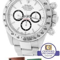 Rolex Daytona Zenith SEL Solid End Link Cosmograph 16520 White