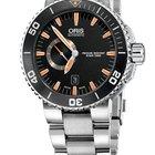 Oris Aquis Small Second, Date, Black Dial, Steel Bracelet