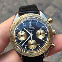 Omega Speedmaster Automatic Automatico Reduced 38 Oro Gold Steel