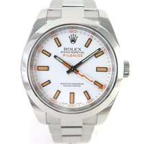 Rolex Milgauss 116400 White dial with papers