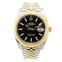 Rolex Datejust Gold And Steel Black Automatic 126333BK_J
