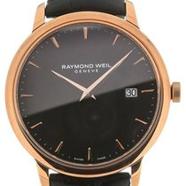 Raymond Weil Toccata 39 Quartz Black Dial Black Leather